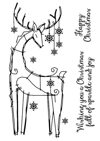 Woodware Clear Singles - Snowflake Reindeer