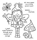 Woodware Clear Singles - Garden Fairy