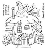 Woodware Clear Stamps - Fairy House