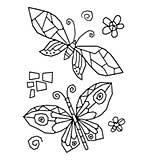Woodware Clear Singles - Mosaic Butterflies