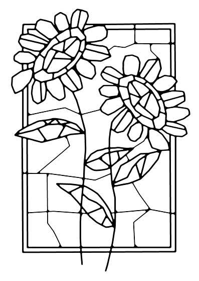 Woodware Clear Singles - Mosaic Flower Window