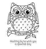 Woodware Clear Singles - Mosaic Owl