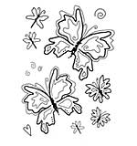Woodware Clear Singles - Tatty Butterflies