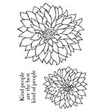 Woodware Clear Stamps - Bold Blooms - Delilah