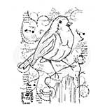 Woodware Clear Magic Stamps - Frosty Robin [WW1806]