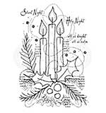 Woodware Clear Magic Stamps - Three Candles [WW1806]