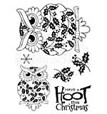 Woodware Clear Magic Stamps - Christmas Owl [WW1806]