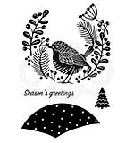 Woodware Clear Magic Stamps - Lino Cut Wren [WW1806]