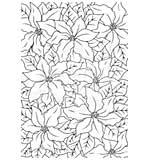 Woodware Clear Magic Stamps - Poinsettia Lace [WW1806]