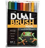 Tombow Dual Brush Markers 10pk - Secondary