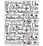 Crafts Too Embossing Folder - Merry Christmas 14.6 x 19 cm
