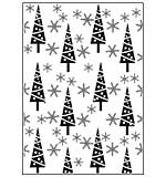 SO: Crafts Too A4 Embossing Folder - Christmas Trees and Snowflakes
