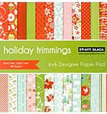 Penny Black Paper Pad 6x6 48pk - Holiday Trimmings