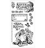 Graphic 45 - St. Nicholas Christmas Santa Chair - Cling Stamp Set 3