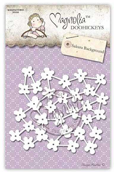 SO: SA15 Magnolia DooHickey Cutting Dies - Sakura Background