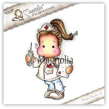 SO: Magnolia EZ Mount Stamp WM16 - Heart Nurse Tilda