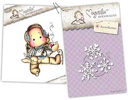 SO: Magnolia Stamp and Doohickey - Cocoa Tilda and Snowflurries Die (AH16)