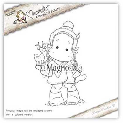 SO: Magnolia EZ Mount Stamp AH16 - Tilda With Little Rudolf