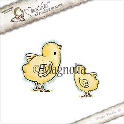 Magnolia EZ Mount Stamp ST17 - Cute Chickens