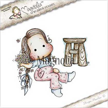 Magnolia EZ Mount Stamp ST17 - Forget Me Not Tilda with Spring Pallet