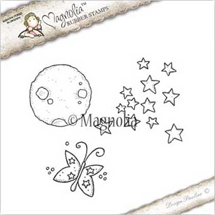 PRE: Magnolia EZ Mount Stamp GX17 - Moon Star And Butterfly Kit