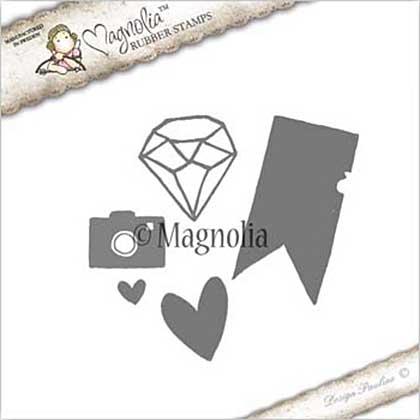 PRE: Magnolia EZ Mount Stamp JO17 - Journaling Kit