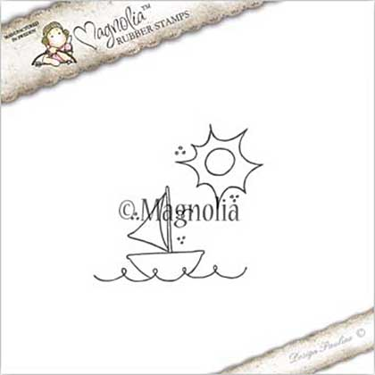 PRE: Magnolia EZ Mount Stamp SU17 - Lounging Background