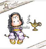 PRE: Magnolia EZ Mount Stamp BU17 - Aladdin Tilda with Lamp