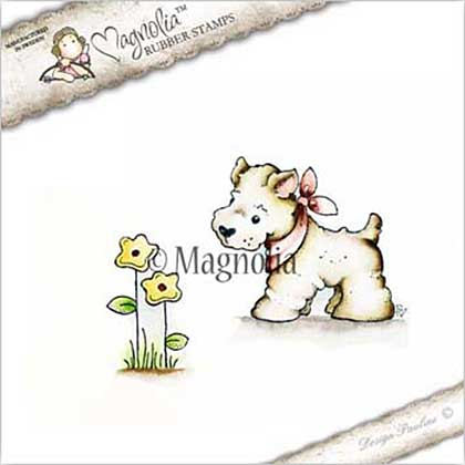 Magnolia EZ Mount Stamp CG17 - Little Westie and Flower (2 stamps)