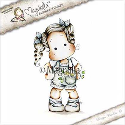 Magnolia EZ Mount Stamp CG17 - Tilda with Flower in her Pocket