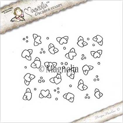PRE: Magnolia EZ Mount Stamp YB17 - Heart Flower Background