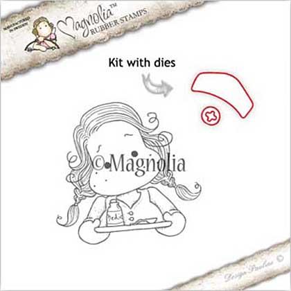 Magnolia EZ Mount Stamp - GW17 Nurse Tilda With Hat
