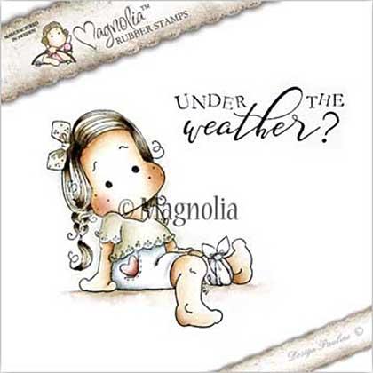 Magnolia EZ Mount Stamp - GW17 Tilda With Heart Pants