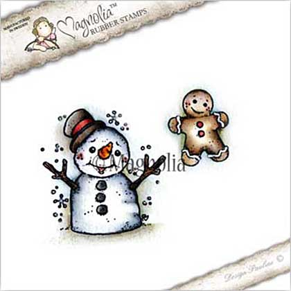 Magnolia EZ Mount Stamp CP17 - Snowman and Gingerbread Kit