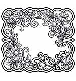 Sue Wilson 15A Stamp - Floral Toile