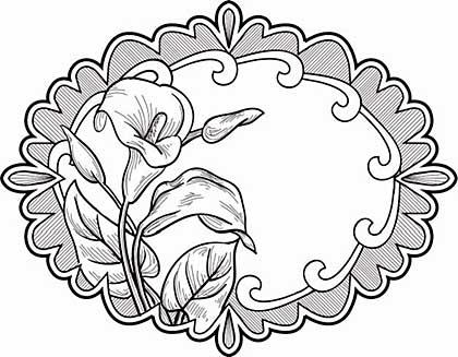 Sue Wilson 15A Stamp - Elegant Lilies