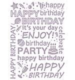 SO: Couture Creations Embossing Folder Happy Birthday All Ocassions Collection, Transparent