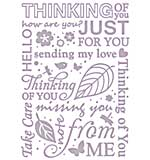 Couture Creations Embossing Folder Thinking of You All Ocassions Collection, Transparent