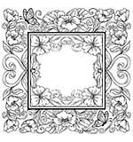 Creative Expressions Garden Frame Pre-Cut Stamp