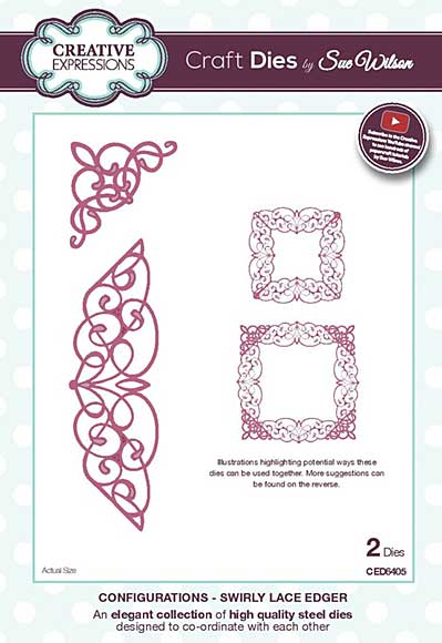 SO: Sue Wilson Cutting Die - Configurations Collection - Swirly Lace Edger