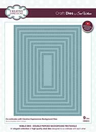 Sue Wilson Cutting Die - Noble Dies Collection - Double Pierced Rectangle (Background Die Sized)