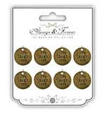 Always and Forever - Live Laugh Love Heart Vintage Metal Charms