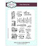 Clear Stamp Sets - Holly Jolly Sentiments - Christmas Words