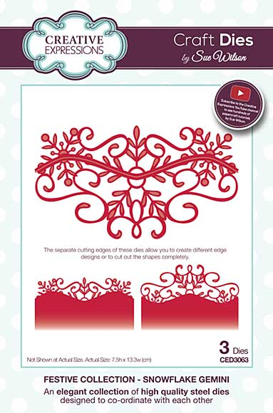 Sue Wilson 2016 Festive Collection - Snowflake Gemini�