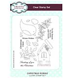 Christmas Robins A5 Clear Stamp Set