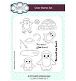 Stitched Penguins A5 Clear Stamp Set