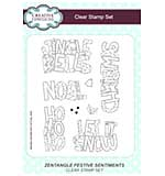 Zentangle Festive Sentiments A5 Clear Stamp Set
