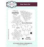 Stitched Angel Ornaments A5 Clear Stamp Set