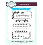 Christmas Borders & Flourishes A5 Clear Stamp Set