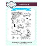 Poinsettia Corner Elements A5 Clear Stamp Set